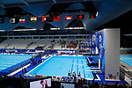 General view, <br /> AUGUST 28, 2018 - Diving : <br /> Women's Synchronised 10m Platform <br /> at Gelora Bung Karno Aquatic Center <br /> during the 2018 Jakarta Palembang Asian Games <br /> in Jakarta, Indonesia. <br /> (Photo by Naoki Morita/AFLO SPORT)