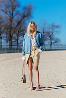 Camille Charriere at Paris Fashion Week (Photo by Hunter Abrams/Guest of a Guest)