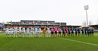 20191211 – OOSTENDE , BELGIUM : both team line ups pictured prior to a soccer game between Club Brugge KV and Real Madrid on the sixth and last matchday in group A of the UEFA Youth League - Champions League season 2019-2020 , thuesday 11 th December 2019 at the Versluys Arena in Oostende , Belgium . PHOTO SPORTPIX.BE | DAVID CATRY