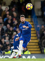 Olivier Giroud of Chelsea during the Premier League match between Chelsea and West Bromwich Albion at Stamford Bridge, London, England on 12 February 2018. Photo by Andy Rowland.