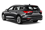 Car pictures of rear three quarter view of a 2019 Ford Focus-Clipper Vignale 5 Door Wagon angular rear