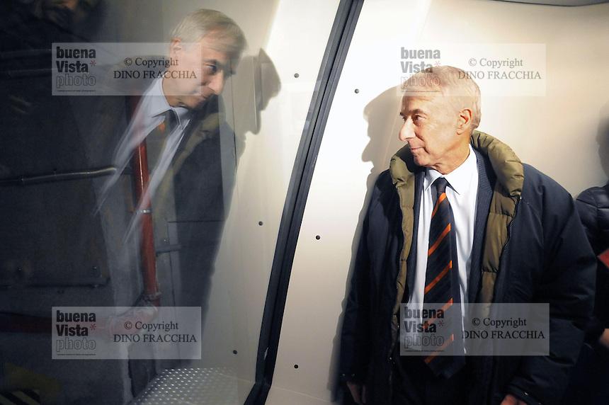 - Milano, collaudo della nuova linea 5 della Metropolitana, il sindaco Giuliano Pisapia....- Milan, testing of the new Metro line 5, the Mayor Giuliano Pisapia
