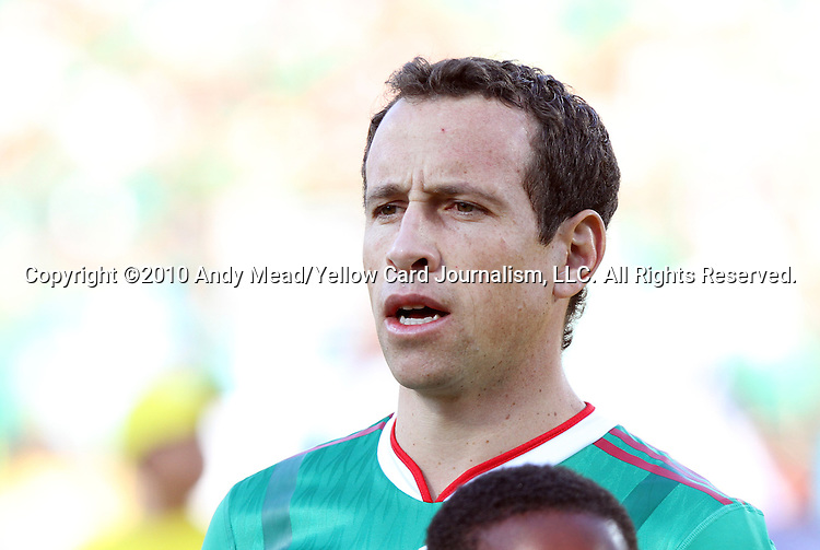 22 JUN 2010: Gerardo Torrado (MEX). The Mexico National Team lost 1-2 to the Uruguay National Team at Royal Bafokeng Stadium in Rustenburg, South Africa in a 2010 FIFA World Cup Group A match.