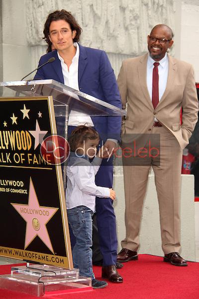 Orlando Bloom and son Flynn Bloom<br /> at the Orlando Bloom Star on the Hollywood Walk of Fame, Hollywood, CA 04-02-14<br /> David Edwards/DailyCeleb.Com 818-249-4998