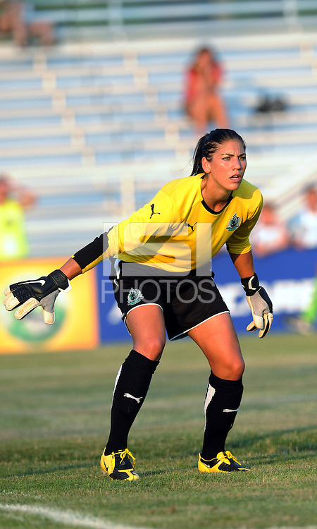 Hope Solo..Saint Louis Athletica were defeated 2-1 by LA Sol, at Anheuser-Busch Soccer Park, Fenton, Missouri.