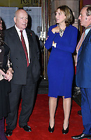 LONDON, ENGLAND - OCT 31: LLord Julian Fellowes, Fiona Bruce, Philip Mould at the Sixth annual awards celebrating the efforts of local people fighting to saving heritage areas and historic sites under threat at Palace Theatre on October 31st, 2016 in London, England.<br /> CAP/JOR<br /> &copy;JOR/Capital Pictures /MediaPunch ***NORTH AND SOUTH AMERICA ONLY***