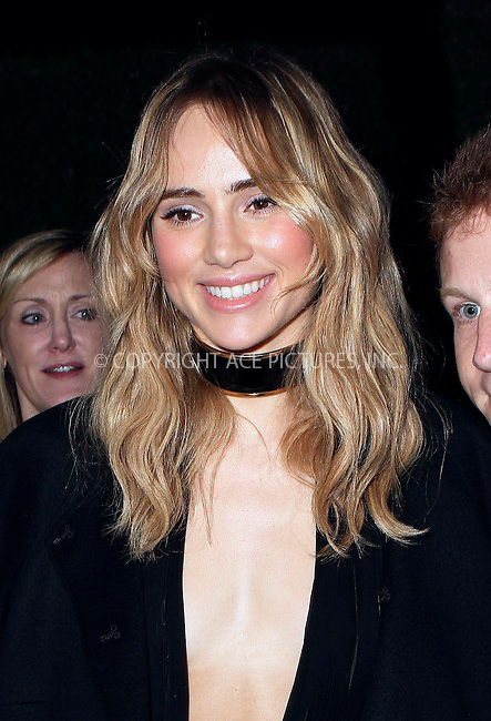 ACEPIXS.COM<br /> <br /> February 17 2015, LA<br /> <br /> Model Suki Waterhouse arriving at the Vanity Fair and Fiat Toast to 'Young Hollywood' in support of the Terrence Higgins Trust at No Vacancy on February 17, 2015 in Los Angeles, California.<br /> <br /> <br /> By Line: Nancy Rivera/ACE Pictures<br /> <br /> ACE Pictures, Inc.<br /> www.acepixs.com<br /> Email: info@acepixs.com<br /> Tel: 646 769 0430