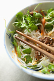VIETNAM, Hue, Huyen Anh restaurant, a bowl of bun thit nuong (rice vermicelli topped with grilled pork & salad)