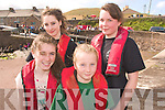 3532-3534.---------.Sea Sport.---------.Getting ready to take part in the 4 hand girls race at the Brandon Regatta last Sunday were Dingle girls L-R Lisa Grandville,kate O'Sullivan and Liadain Sheehy.