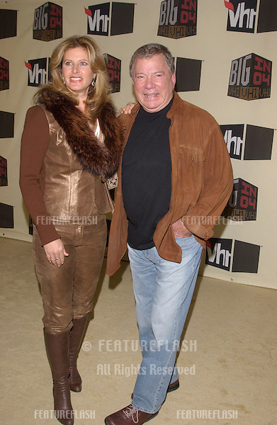 Dec 1, 2004; Los Angeles, CA: Actor WILLIAM SHATNER & wife at the VH1 Big in '04 Awards at the Shrine Auditorium, Los Angeles..