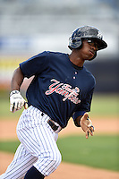 Tampa Yankees outfielder Claudio Custodio (6) during a game against the Daytona Cubs on April 13, 2014 at George M. Steinbrenner Field in Tampa, Florida.  Tampa defeated Daytona 7-3.  (Mike Janes/Four Seam Images)