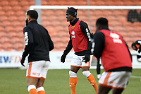 Blackpool's Armand Gnanduillet during the pre-match warm-up <br /> <br /> Photographer Rich Linley/CameraSport<br /> <br /> The EFL Sky Bet League One - Blackpool v Barnsley - Saturday 22nd December 2018 - Bloomfield Road - Blackpool<br /> <br /> World Copyright &copy; 2018 CameraSport. All rights reserved. 43 Linden Ave. Countesthorpe. Leicester. England. LE8 5PG - Tel: +44 (0) 116 277 4147 - admin@camerasport.com - www.camerasport.com