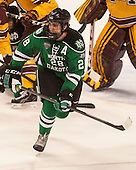 Stephane Pattyn (North Dakota - 28) - The University of Minnesota Golden Gophers defeated the University of North Dakota 2-1 on Thursday, April 10, 2014, at the Wells Fargo Center in Philadelphia to advance to the Frozen Four final.