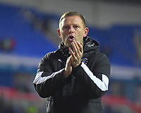 Luton Town Manager Graeme Jones applauds the Luton Town  fans at the end of the match during Reading vs Luton Town, Sky Bet EFL Championship Football at the Madejski Stadium on 9th November 2019