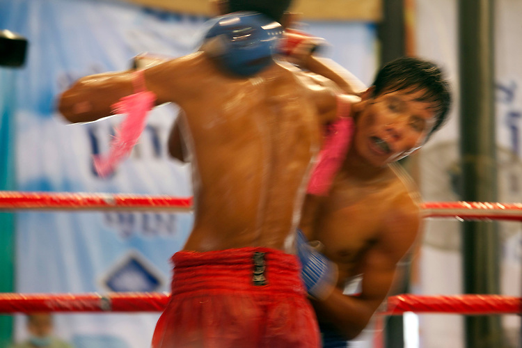 Kick boxing in Phnom Penh, Cambodia. <br /> <br /> Photos &copy; Dennis Drenner 2013.