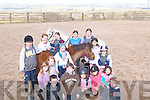 EQUESTRIAN CAMP: Children who are attending the Equestrian Centre Easter Camp in Tonavane, Tralee, are Alan Dore, Sea?n Hartnett, Muireann Dillane, Cian Ronan, Kay Barry, Lilly O'Brien, Gearo?id Hartnett, Ciara Leen, Julia Daly, Aine Masterson, Ciara O'Connor, Kelly Ronan, Clare Horgan, Geraldine Kissane, Cora O'Carroll and Yasmin Gardezi.