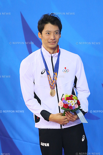 Ryosuke Irie (JPN), <br /> SEPTEMBER 25, 2014 - Swimming : <br /> Men's 200m Backstroke Medal Ceremony <br /> at Munhak Park Tae-hwan Aquatics Center <br /> during the 2014 Incheon Asian Games in Incheon, South Korea. <br /> (Photo by YUTAKA/AFLO SPORT)