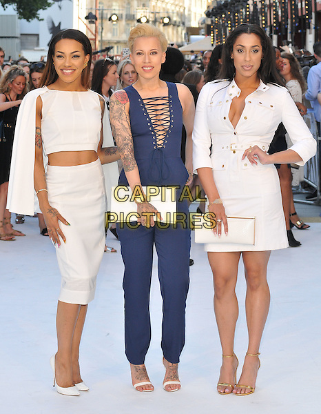 LONDON, ENGLAND - JUNE 30: Stooshe attend the &quot;Magic Mike XXL&quot; UK film premiere, Vue West End cinema, Leicester Square, on Tuesday June 30, 2015 in London, England, UK. <br /> CAP/CAN<br /> &copy;CAN/Capital Pictures
