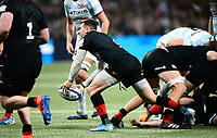 17th November 2019,  Paris La Défense Arena, Hauts-de-Seine, France; Champions Cup Rugby Union, Racing 92 versus Saracens;  B Spencer (Saracens ) plays the ball along his line from the scrum