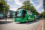 im Bild: Ankunft Mannschaftsbus am Wohninvest Weserstadion,<br /><br />Sport: nphgm001: Fussball: 1. Bundesliga: Saison 19/20: 34. Spieltag: SV Werder Bremen vs 1.FC Koeln 27.06.2020 <br /><br />Foto: Rauch/gumzmedia/nordphoto<br /><br />EDITORIAL USE ONLY