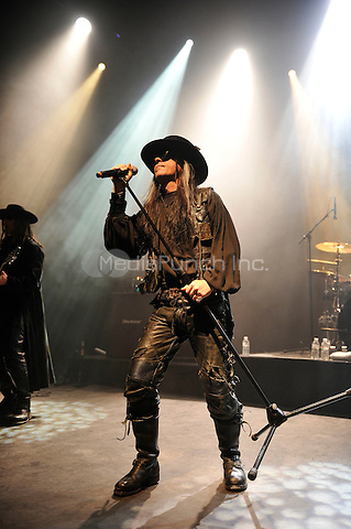 LONDON, ENGLAND - DECEMBER 21: Carl McCoy of 'Fields of The Nephilim' performing at Shepherd's Bush Empire on December 21, 2016 in London, England.<br /> CAP/MAR<br /> &copy;MAR/Capital Pictures /MediaPunch ***NORTH AND SOUTH AMERICAS ONLY***