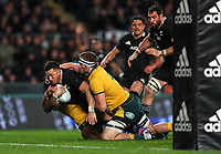 Sonny Bill Williams scores during the Bledisloe Cup rugby match between the New Zealand All Blacks and Australia Wallabies at Eden Park in Auckland, New Zealand on Saturday, 17 August 2019. Photo: Simon Watts / lintottphoto.co.nz