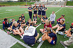 Redondo Beach, CA 05/14/11 - The St Margaret team listens to Coach Summer Crabtree during half time in their game against Cate School for the Division 2 Championship US Lacrosse / CIF Southern Section.