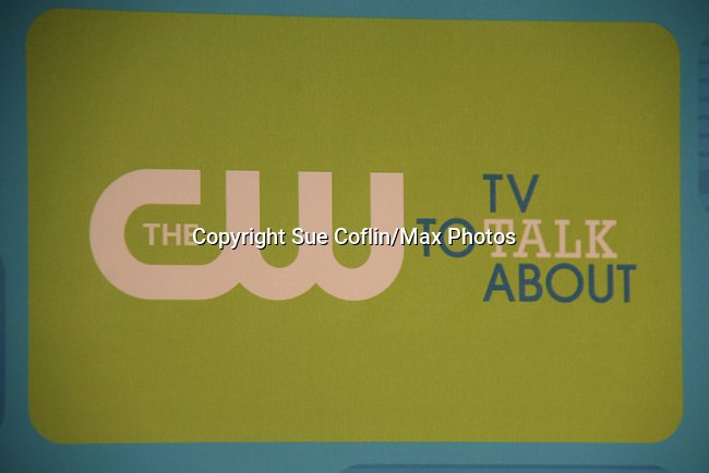 CW logo at The CW Upfront 2010 green carpet arrivals on May 20, 2010 at Madison Square Gardens, New York, New York. (Photo by Sue Coflin/Max Photos)