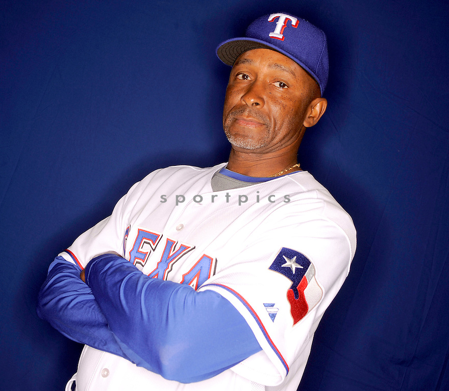 GARY PETTIS, of the Texas Rangers, during photo day of spring training and the Ranger's training camp in Surprise, Arizona on February 24, 2009.