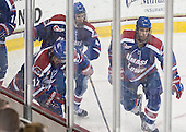 Josh Holmstrom (UML - 12), Joe Houk (UML - 4), Joseph Pendenza (UML - 14) - The University of Massachusetts Lowell River Hawks defeated the Boston College Eagles 4-2 (EN) on Tuesday, February 26, 2013, at Kelley Rink in Conte Forum in Chestnut Hill, Massachusetts.