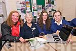 Vera Ní Chinnéide and Maire Ní Mhórain with Pobalscoil Chorca Dhuibhne students Dawn Ní Illeard and Ellen Ní Ghrainne during a 121 Digital class at the school on Friday afternoon.