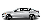 Car Driver side profile view of a 2019 Nissan Altima SR-FWD 4 Door Sedan Side View