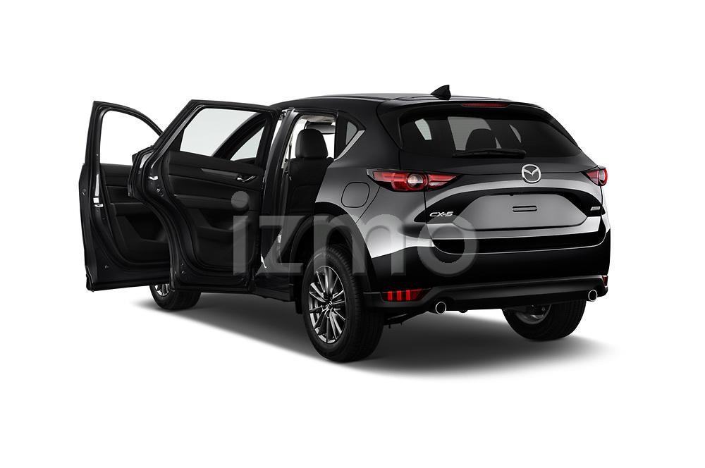 Car images close up view of a 2018 Mazda CX-5 Sport 5 Door SUV doors