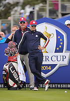23 Sept 14 Caddie Damon Green and Zach Johnson  during the Tuesday Practice Round at The Ryder Cup at The Gleneagles Hotel in Perthshire, Scotland. (photo credit : kenneth e. dennis/kendennisphoto.com)