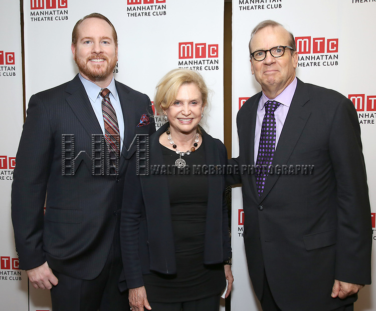 Darren Goldstein, Carolyn Maloney, Barry Grove attending the Broadway Opening Night After Party for 'The Little Foxes' at the Copacabana on April 19, 2017 in New York City.