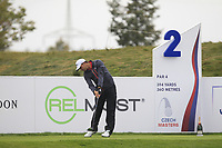Haydn Porteous (RSA) on the 2nd tee during Round 2 of the D+D Real Czech Masters at the Albatross Golf Resort, Prague, Czech Rep. 01/09/2017<br /> Picture: Golffile | Thos Caffrey<br /> <br /> <br /> All photo usage must carry mandatory copyright credit     (&copy; Golffile | Thos Caffrey)