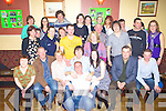 Paddy O' Sullivan, seated fourth from left, from Currow, Killarney, celebrated his 21st birthday with family and friends in The Fountain Bar Castisland on Saturday night..