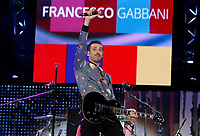 Il cantautore Francesco Gabbani sul palco del concerto del Primo Maggio promosso da Cgil, Cisl e Uil in occasione della Festa del Lavoro, in piazza San Giovanni a Roma, 1 maggio 2017.<br /> Italian singer and songwriter Francesco Gabbani performs on stage during the May Day free concert on the occasion of the International Workers' Day, in St. John Lateran's Square, Rome, May 1, 2017.<br /> UPDATE IMAGES PRESS/Riccardo De Luca