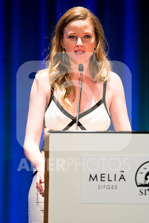 Rachel Nichols during the opening ceremony of the Festival de Cine Fantastico de Sitges in Barcelona. October 07, Spain. 2016. (ALTERPHOTOS/BorjaB.Hojas)