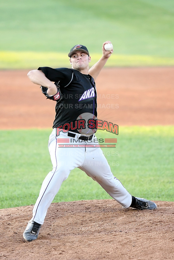 June 30th 2007: Chuck Lofgren of the Akron Aeros, Class-AA affiliate of the Cleveland Indians in a game versus the Erie Seawolves at Jerry Uht Park in Erie, PA.  Photo by:  Mike Janes/Four Seam Images