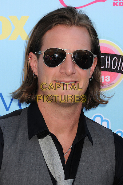 Tyler Hubbard of Florida Georgia Line<br /> 2013 Teen Choice Awards - Arrivals held at Gibson Amphitheatre, Universal City, California, USA. <br /> August 11th, 2013<br /> headshot portrait grey gray black top sunglasses shades <br /> CAP/ADM/BP<br /> &copy;Byron Purvis/AdMedia/Capital Pictures