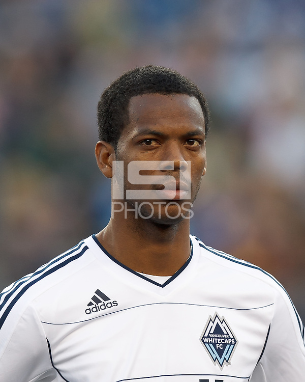Vancouver Whitecaps FC defender Carlyle Mitchell (19). In a Major League Soccer (MLS) match, the New England Revolution defeated Vancouver Whitecaps FC, 4-1, at Gillette Stadium on May 12, 2012.