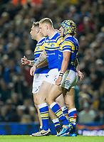 Picture by Allan McKenzie/SWpix.com - 23/03/2018 - Rugby League - Betfred Super League - Leeds Rhinos v Castleford Tigers - Elland Road, Leeds, England - Ashton Golding congratulates Mikolaj Oledzki.