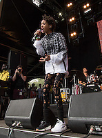 Willow Smith performs in different coloured trainers during The New Look Wireless Music Festival at Finsbury Park, London, England on Sunday 05 July 2015. Photo by Andy Rowland.