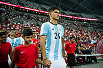 Carlos Correa of Argentina getting into the field during the International Test match between Argentina and Singapore at National Stadium on June 13, 2017 in Singapore. Photo by Marcio Rodrigo Machado / Power Sport Images