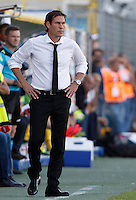 Calcio, Serie A: Frosinone vs Roma. Frosinone, stadio Comunale, 12 settembre 2015.<br /> Roma&rsquo;s coach Rudi Garcia during the Italian Serie A football match between Frosinone and Roma at Frosinone Comunale stadium, 12 September 2015.<br /> UPDATE IMAGES PRESS/Isabella Bonotto