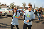 PACOIMA, CA. - October 10: Stephanie Jacobsen and Matt Lanter walking at The 2009 American Dream Walk To Benefit Habitat For Humanity at Lowe's Home Improvement on October 10, 2009 in Pacoima, California.