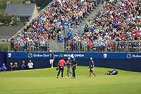 Jon Rahm (ESP) wins on the 18th during Round 4 of the Irish Open at LaHinch Golf Club, LaHinch, Co. Clare on Sunday 7th July 2019.<br /> Picture:  Thos Caffrey / Golffile<br /> <br /> All photos usage must carry mandatory copyright credit (© Golffile | Thos Caffrey)
