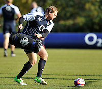 Bagshot, England.Thomas Waldrom of England during the England training session held at Pennyhill Park on November 8, 2012 in Bagshot, England.