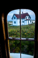 A view of the keeper's house from Race Point Lighthouse in Provincetown, MA.